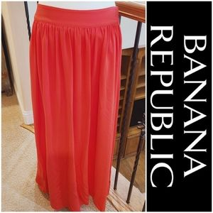 Banana Republic | Size 8 Dark Melon Coral Maxi